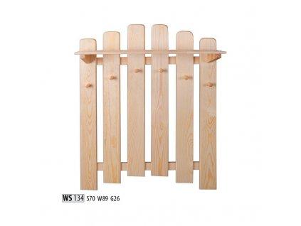 Věšák WS 134 borovice masiv