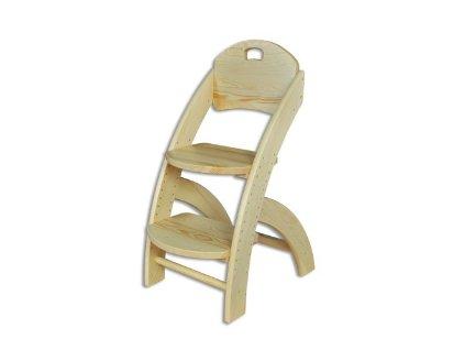 Dětská rostoucí židle KT 201  borovice masiv